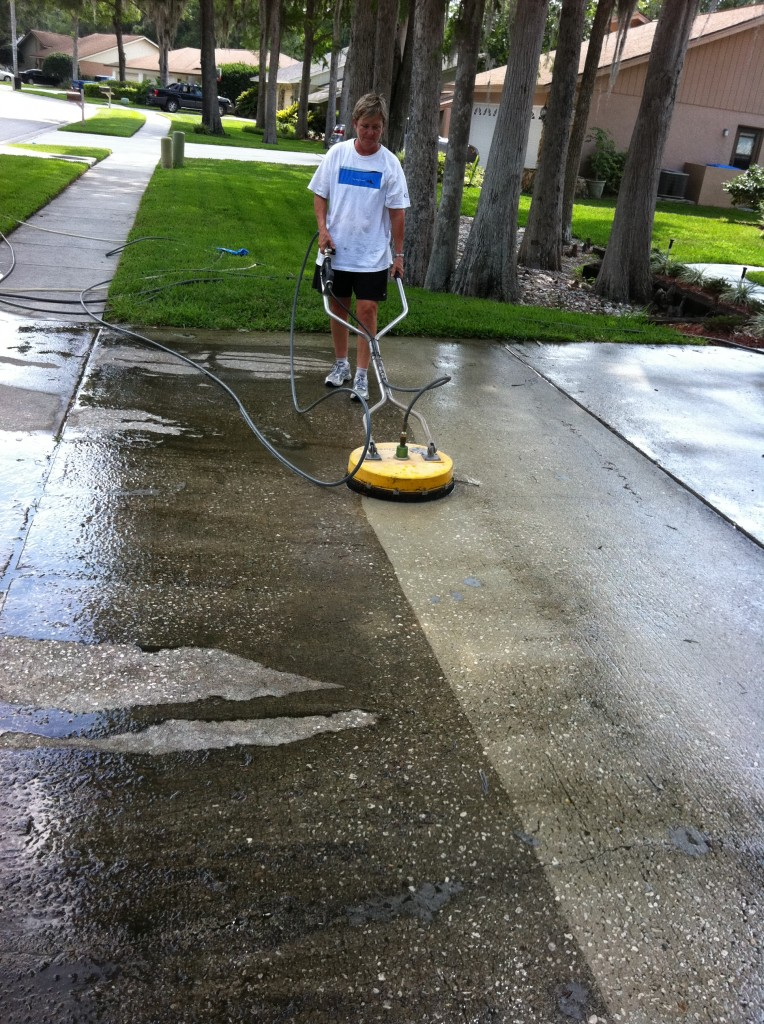 Driveway cleaning grime bustersgrime busters for Pressure wash concrete patio